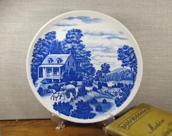 Nasco - Homestead - Flow Blue Plate
