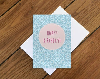 Spirograph Birthday Card