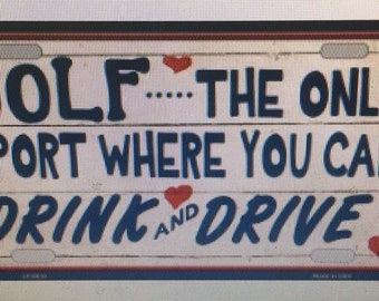 Aluminum license tag for drinkers