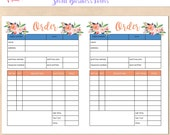 Digital Order Form - A5  Etsy Planner InsertPrintable Template - Custom - Personalised - Small Business - Handmade Etsy Order Form