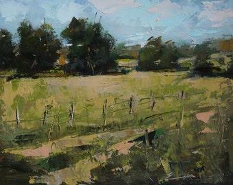 """Original Oil Painting - Landscape - 8""""X 10"""" - Post-Impressionism painting - Impressionism painting"""