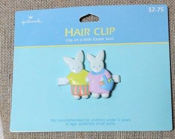 Vintage Hallmark Easter Bunnies Hair Clip