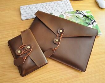 """13Inch Laptop Sleeve Leather Macbook Pro 13""""Sleeve Macbook Pro Retina Case Macbook Pro 13 Leather Case for Macbook Air 13,Macbook Air 11-076"""