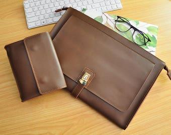 """13Inch Laptop Sleeve Leather Macbook Pro 13""""Sleeve Macbook Pro Retina Case Macbook Pro 13 Leather Case for Macbook Air 13,Macbook Air 11-108"""