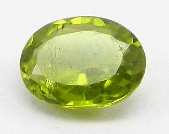 15% off - Natural Peridot 9x7mm oval cut - August birthstone - 2.2 ct - Semi precious loose stone for jewelry - SHST1122
