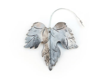 Ornament: Hand-forged Grape Leaf