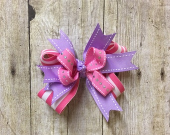 Baby Girl Bow, Baby Girl Hair Bow, Girl Pink Bow, Girl Hair Bow, Pink Hair Bow, Boutique Bow, Boutique Hair Clip, Pink Hair Accessory