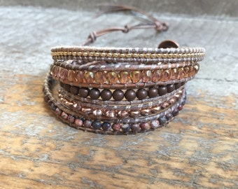 Morgan Beaded Wrap Bracelet