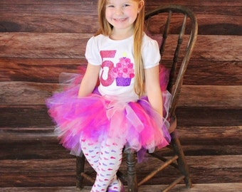 Girl's Fifth birthday outfit, 5th birthday shirt, 5 year old girls birthday outfit, turning 5, girls 5th birthday, 5th birthday shirt, five
