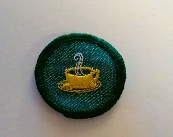 Girl Scout Hospitality Merit Patch Award Badge Sash Accessories GS Uniform Parts Vintage Old 1950's Collectible Memorabilia Girl Scouts
