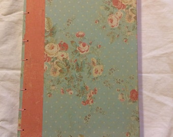 Vintage Roses Coptic Bound Artist's Sketchbook Diary Journal Notebook