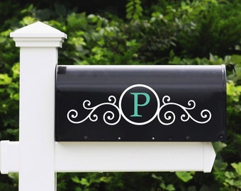 Mailbox Letter Vinyl Decal - Mailbox Decals, Mailbox Stickers, Custom Mailbox Name Decal,  Home Decor