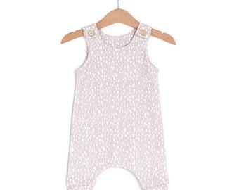 Beige Dots Organic Cotton Baby Romper