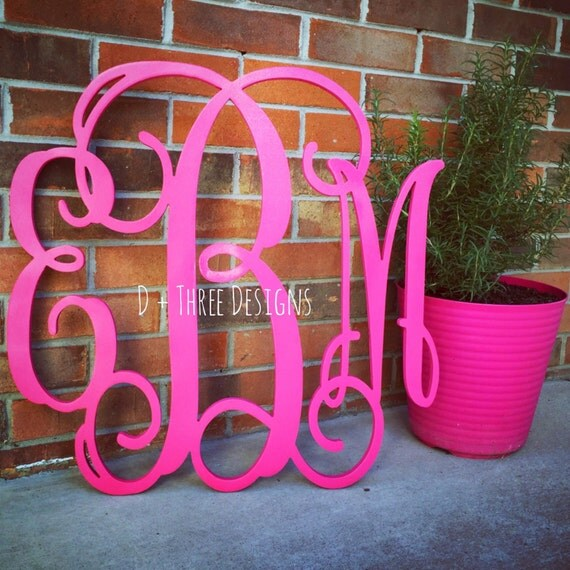 24 Inch Wooden Monogram Painted Wooden Letters Monogram
