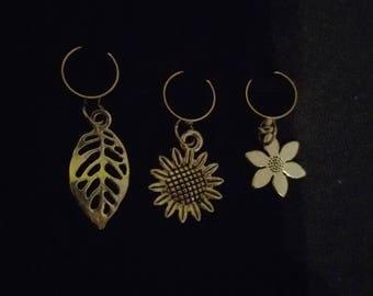 Nature dreadlock bead cuffs