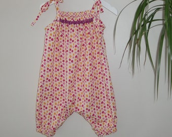 Whegyn Baby Playsuit PDF Pattern in ages 0 to 2 years