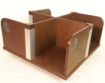 Mid Century Modern Rotating Desk Organizer Caddy