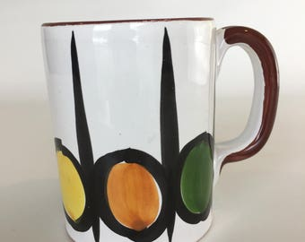Mid Century Modern Italian Pottery Mug Cup