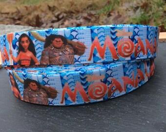 Moana Ribbon, Moana Bows, Moana Birthday, Moana Hair Bow, Grosgrain Ribbon
