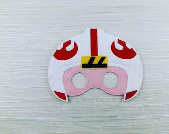 Galaxy Rebel Star Wars Felt Mask Costume Luke Skywalker Mask Party Favor Felt Dress Up Birthday Party Halloween