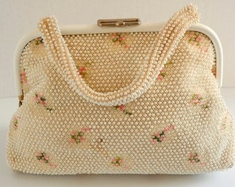 Beaded Flower Purse