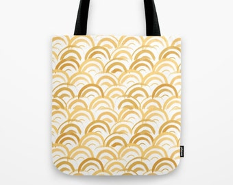 Gatsby Tote Bag Gold Art Deco Canvas Tote Roaring 20s Party Favor Totes New Years gatsby party retro vintage Travel bag gifts her under 30