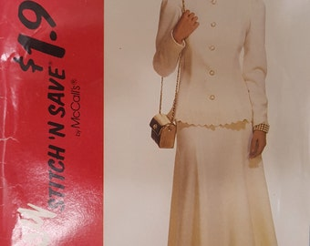 Stitch 'N Save 6272 Misses Two Piece Dress Size 10-16