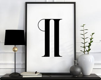 Pilcrow print, typography print, printable art, pilcrow poster, wall art printable poster, digital art ,downloadable print gifts for teacher