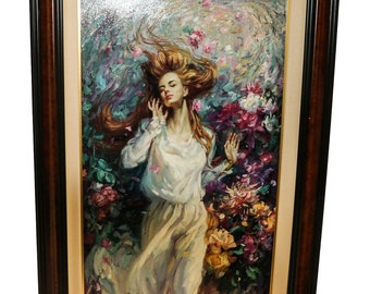 """Cao Yong """"Winds of Love"""" Giclee On Canvas"""