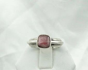 Vintage Natural Rhodochrosite Sterling Silver Ring Size 8 #RHODOCHROSITE-SR3