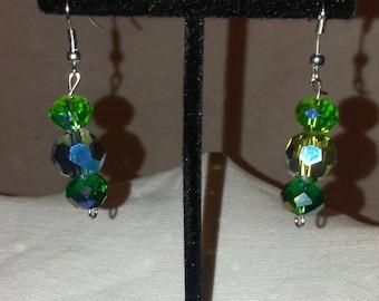 Crystal Green Earrings