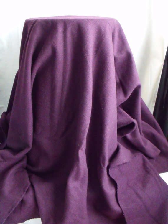 plum pure wool fabric, wool material, upholstery fabric, soft furnishings, 61 x 62 inches