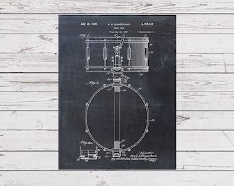 Patent Print of a Drum Patent Art Print Patent Poster