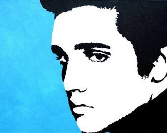 Custom Elvis Presley Acrylic Painting - Elvis Art Elvis Wall Art - Elvis Pop Art - Elvis Painting - Elvis Decor - Elvis Wall Custom painting