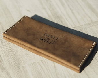 Big Broun wallet,Leather wallet womens,Handmade wallet red,CreditCards holder,Broun Coin case,Minimalist Broun Leather wallet,Broun clutch