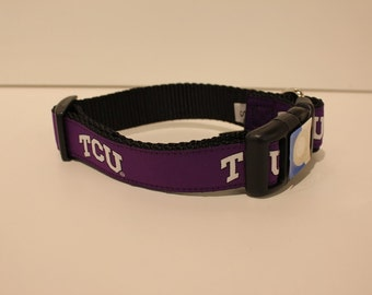 Texas Christian  University TCU   Dog Collar
