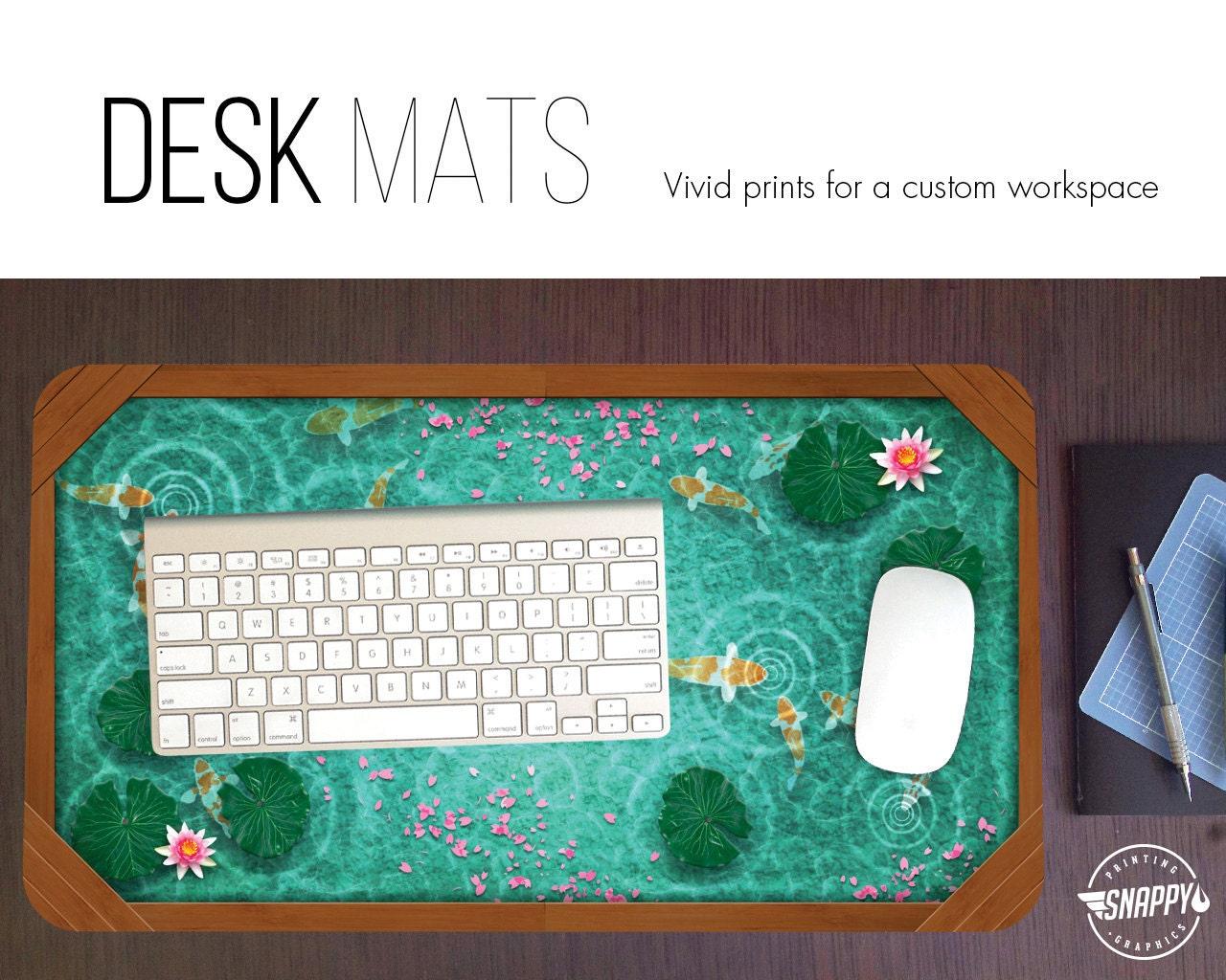 Koi pond desk mat high quality digital print japanese zen for Koi pond japanese matting