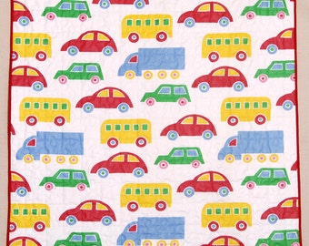 Cars, Trucks and Buses Baby Quilt