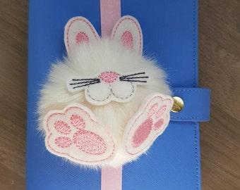 Fluffy Bunny Pom Pom Faux Fur Easter Planner Band