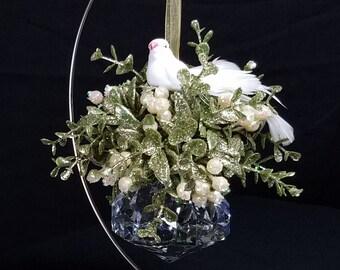 Dove Krystal Jewel Ornament
