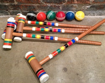 Croquet Game Etsy