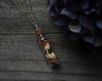 SALE Mixed Herb Bottle Necklace