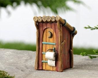 Fairy Garden  - Woodland Outhouse - Miniature
