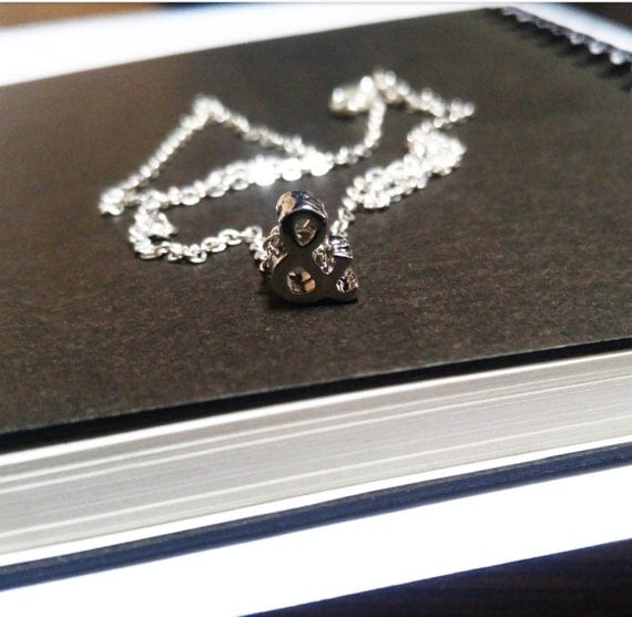 """Silver Ampersand (&) charm necklace on 17"""" chain"""