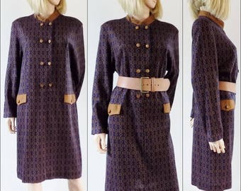 French long sleeve jersey dress long sleeve winter shirt dress size medium