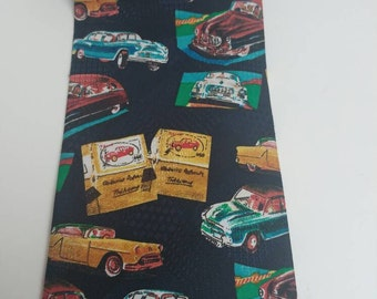Vintage tie American classic cars