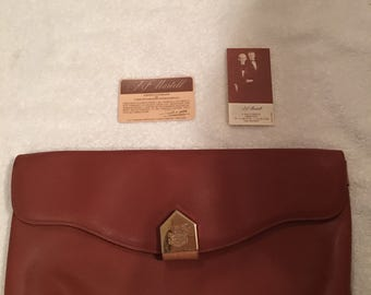 Vintage Italian J&F Martell leather envelope bag