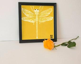 Blade dragonfly, exclusive 'Retrats Bestials', Marta Comas Illustration collection.