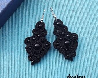 Little Black Soutache Earrings