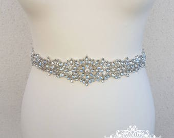 Wedding belt, Bridal belt, wedding dress belt, diamante belt, all around bridal belt, bling belt, crystal belt, sparkle belt,  MAISIE